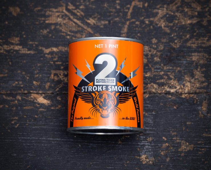 2Stroke Smoke Scented Candle By Flying Tiger Moto