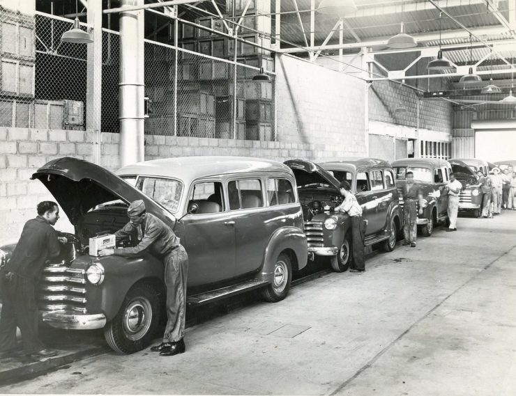 Chevrolet Suburban production line