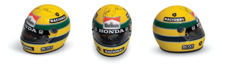 Ayrton Senna McLaren Honda Helmet Signed
