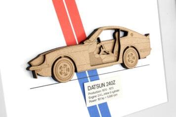 Laser Cut Wooden Vehicle Blueprints by Simply Cut Art 5