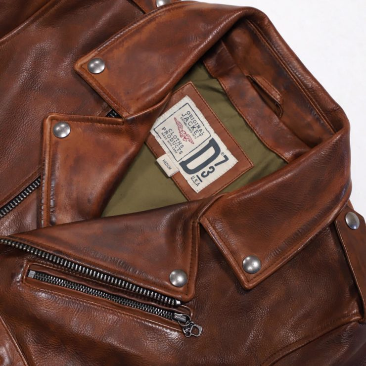 Redford Jacket D73 Leather Company Detail