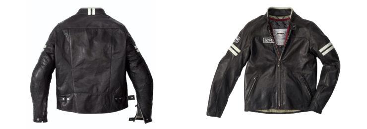 Spidi Vintage Leather Jacket Front and Back