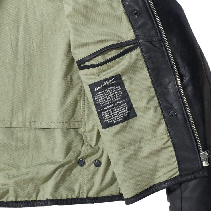 Spidi Vintage Leather Jacket Label