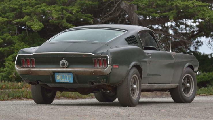 Steve McQueen Bullitt Mustang Back