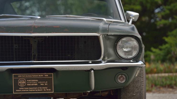 Steve McQueen Bullitt Mustang Grille