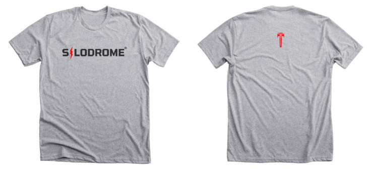 The Silodrome x Red Lightning Tee Front and Back