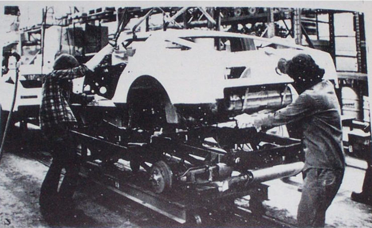 Bricklin SV-1 production line