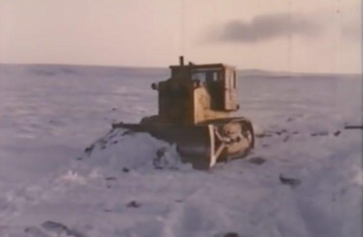 Arctic Convoy With Giant Mack Trucks 1