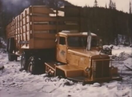 Arctic Convoy With Giant Mack Trucks 3