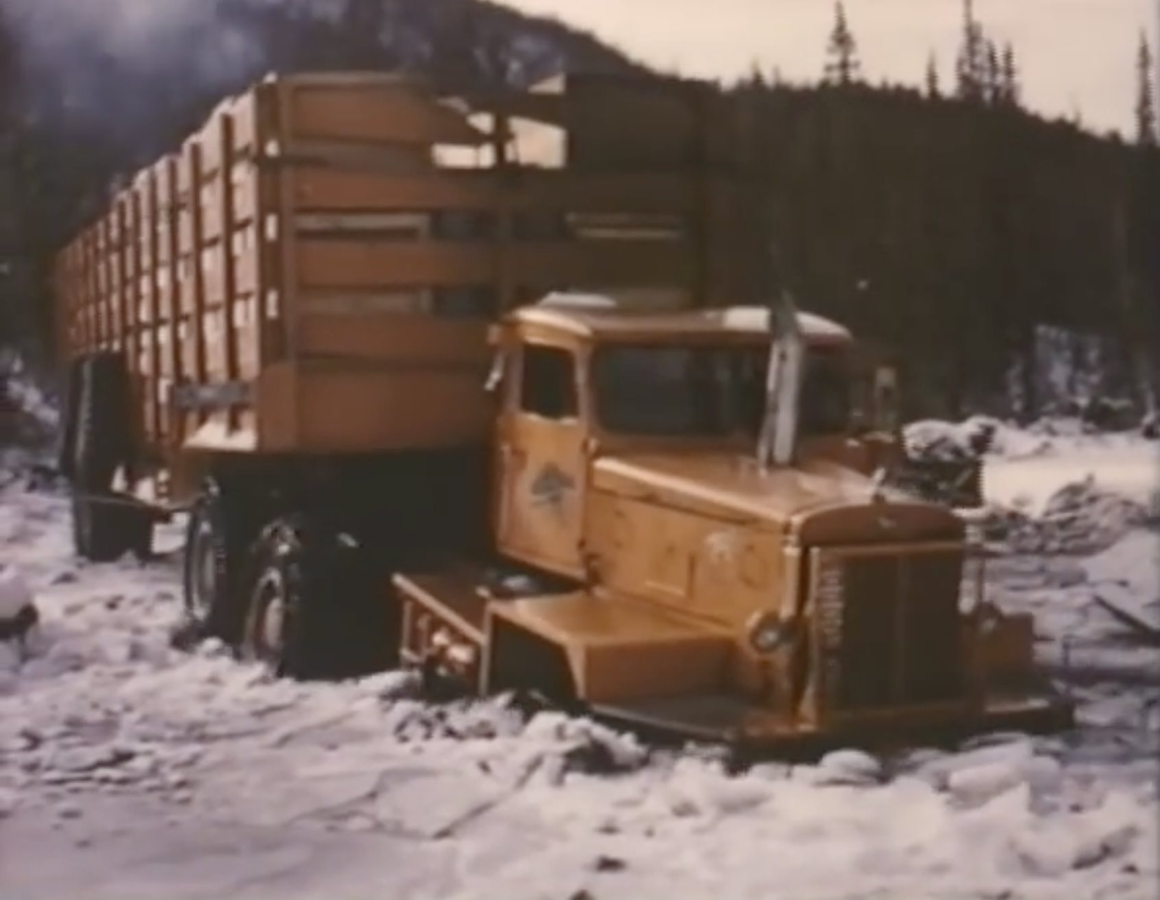 Arctic Convoy With Giant Mack Trucks 3