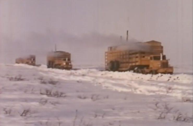 Arctic Convoy With Giant Mack Trucks 4