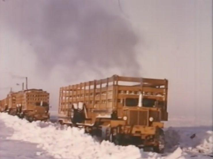 Arctic Convoy With Giant Mack Trucks 6