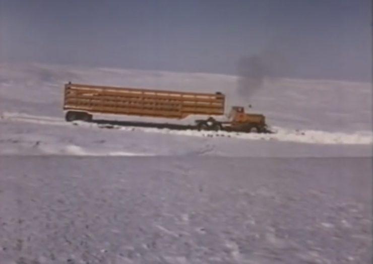 Arctic Convoy With Giant Mack Trucks 7