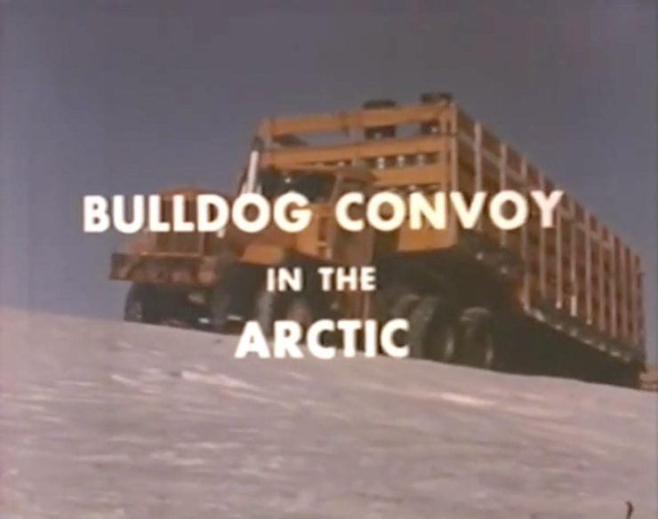 Arctic Convoy With Giant Mack Trucks