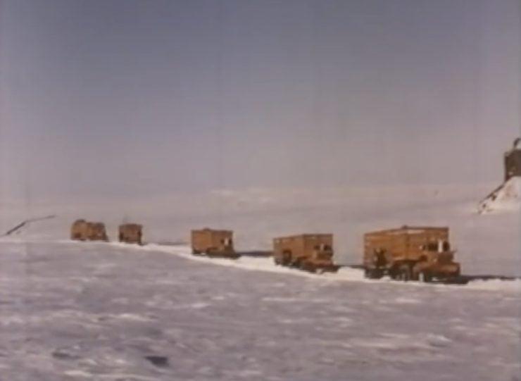 Arctic Convoy With Giant Mack Trucks 8