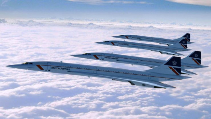 Concordes In Flight