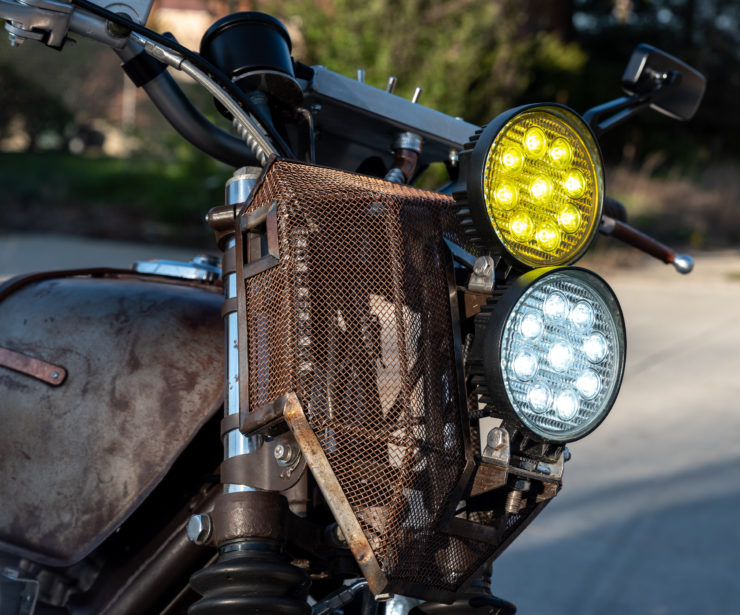 Custom Kawasaki KZ650 LED Lights