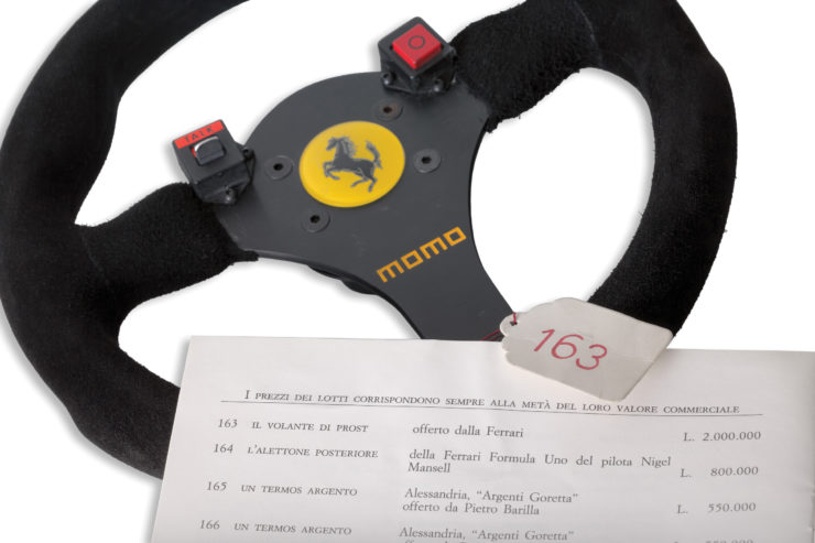 Ferrari 641 Formula 1 MOMO Steering Wheel Details