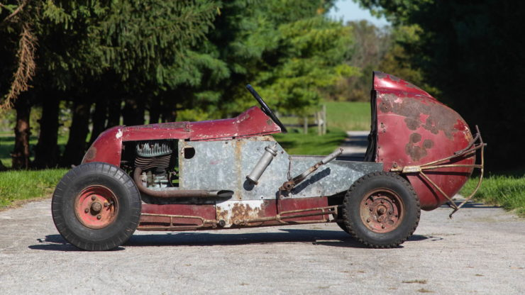 Harley-Davidson Powered TQ Midget Race Car Side