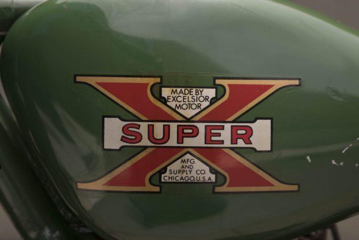 Steve McQueen Excelsior Super X Factory-Built Flat Tracker Logo