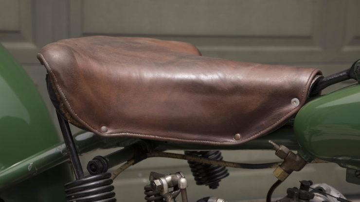 Steve McQueen Excelsior Super X Factory-Built Flat Tracker Seat