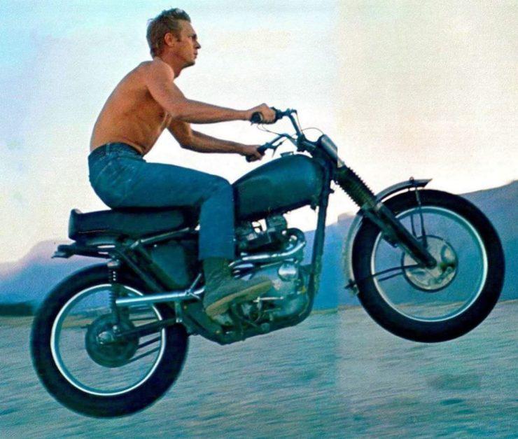 Steve McQueen Motorcycle Jump