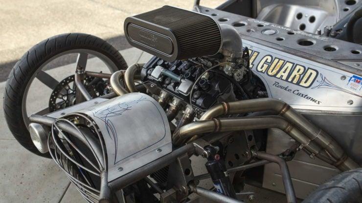 Suzuki GSX-R 1000R Powered 3-Wheeler Built By Jesse Rooke Engine