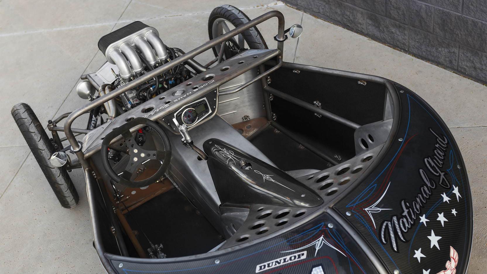 Suzuki GSX-R 1000R Powered 3-Wheeler Built By Jesse Rooke Interior