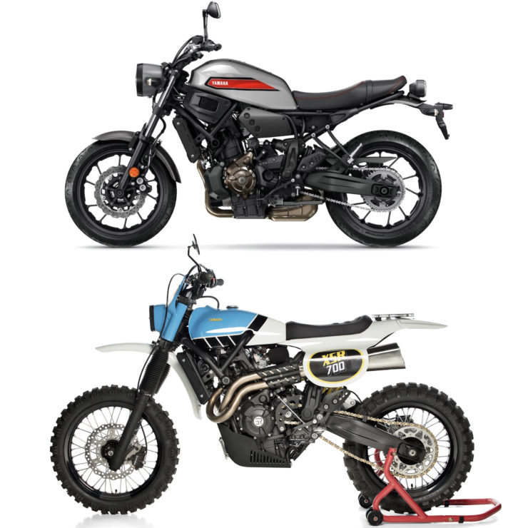 Yamaha XSR700 TT Custom Before + After
