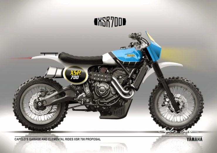 Yamaha XSR700 TT Custom Rendering
