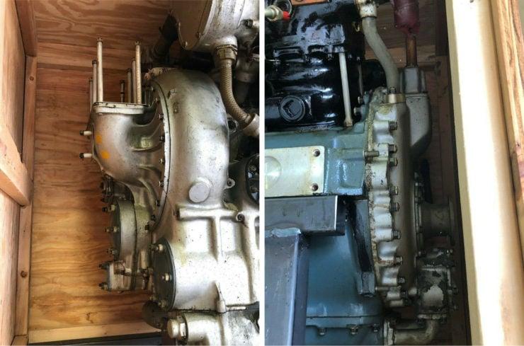Allison V-1710 aircraft engine front and back