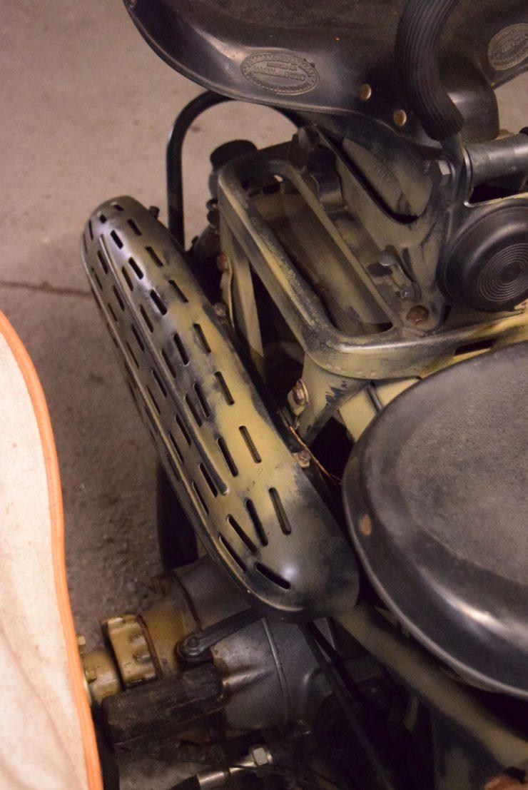 BMW R75 Sidecar Exhaust