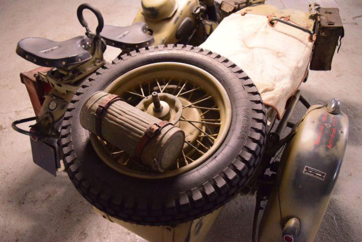 BMW R75 Sidecar Spare Tire