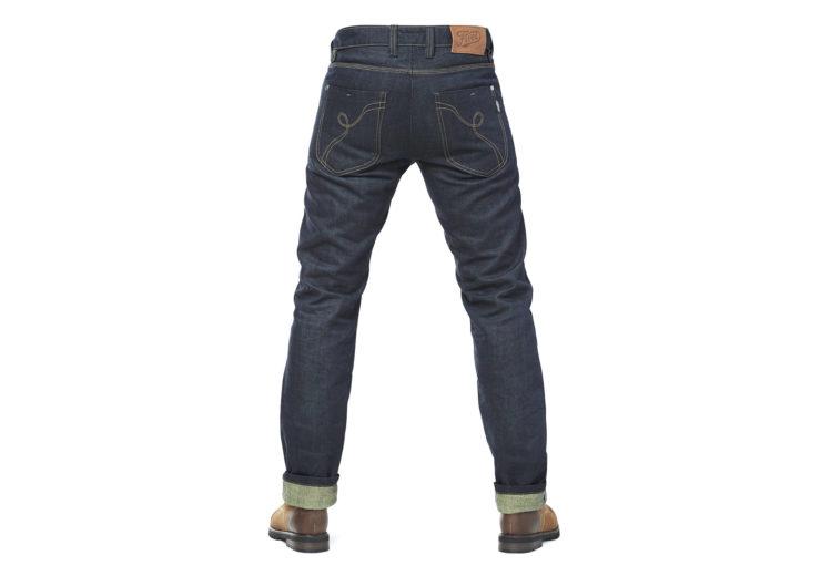 Fuel Greasy Denim Motorcycle Jeans Back