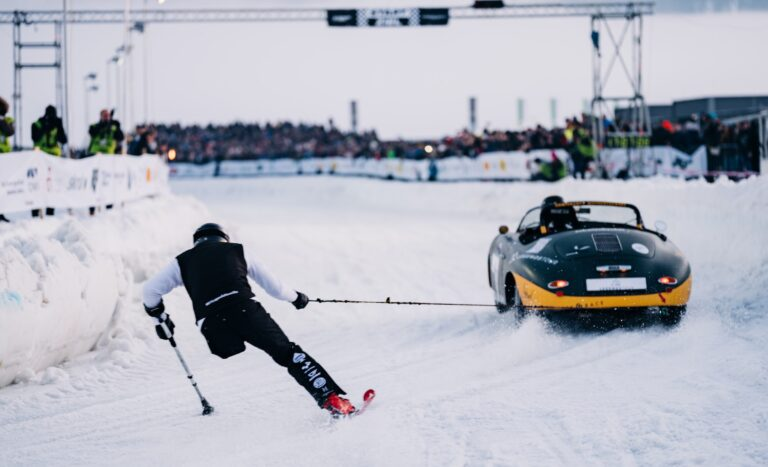 A Look At The Incredible GP Ice Race – Would You Ski Behind A Race Car?