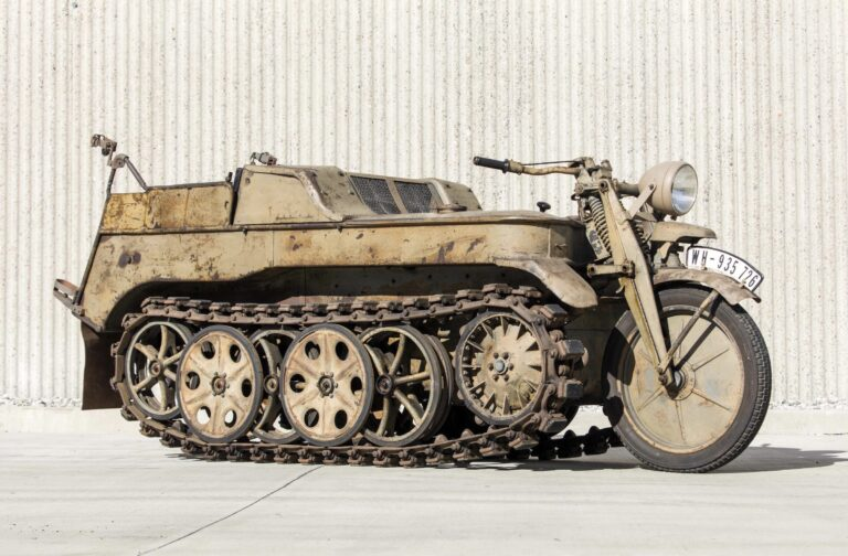 The Kettenkrad - NSU Sd. Kfz. 2 - Half Motorcycle, Half Tank, And Capable Of 50 MPH