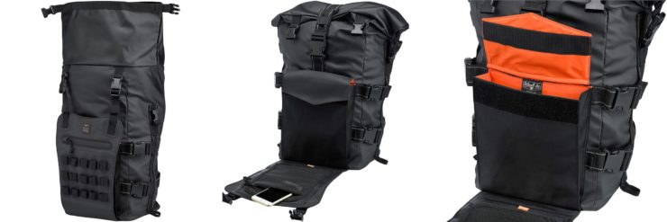 The Biltwell EXFIL-60 Bag - Motorcycle Utility Bag Collage 2