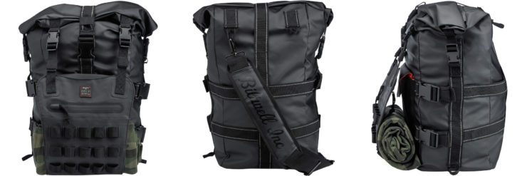 The Biltwell EXFIL-60 Bag - Motorcycle Utility Bag Collage