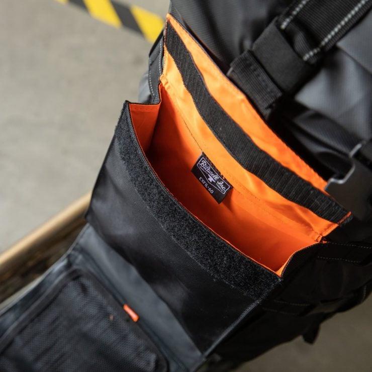 The Biltwell EXFIL-60 Bag - Motorcycle Utility Bag Interior