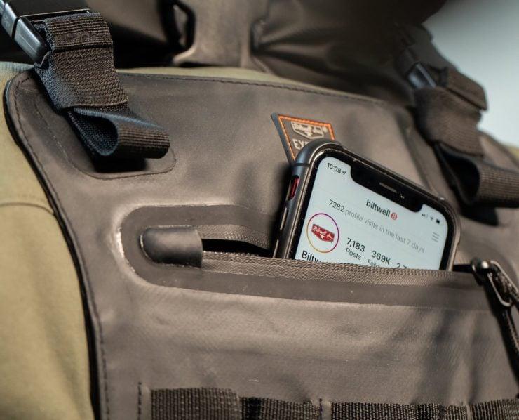 The Biltwell EXFIL-60 Bag - Motorcycle Utility Bag Phone Pocket