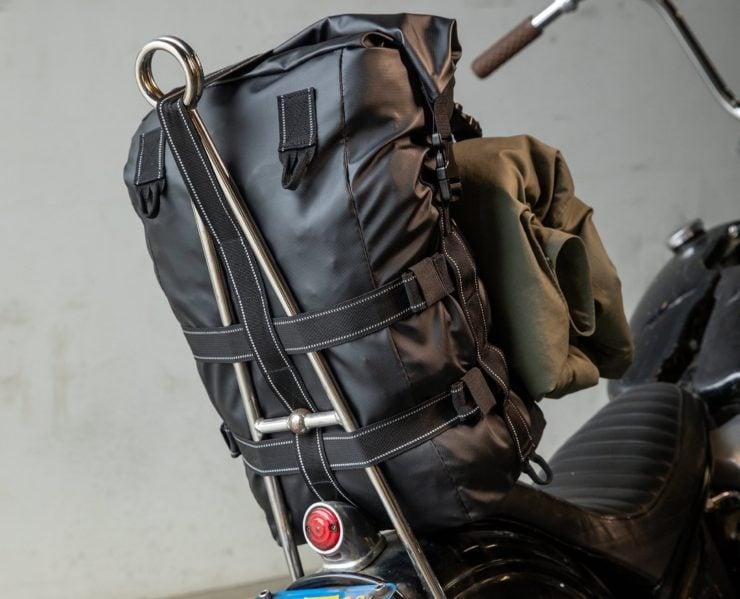The Biltwell EXFIL-60 Bag - Motorcycle Utility Bag Sissy Bar 2