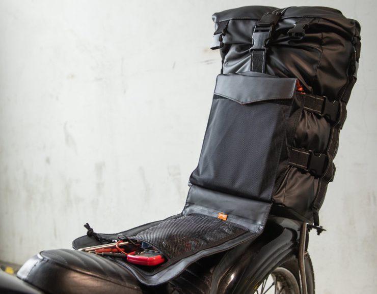 The Biltwell EXFIL-60 Bag - Motorcycle Utility Bag Sissy Bar 3