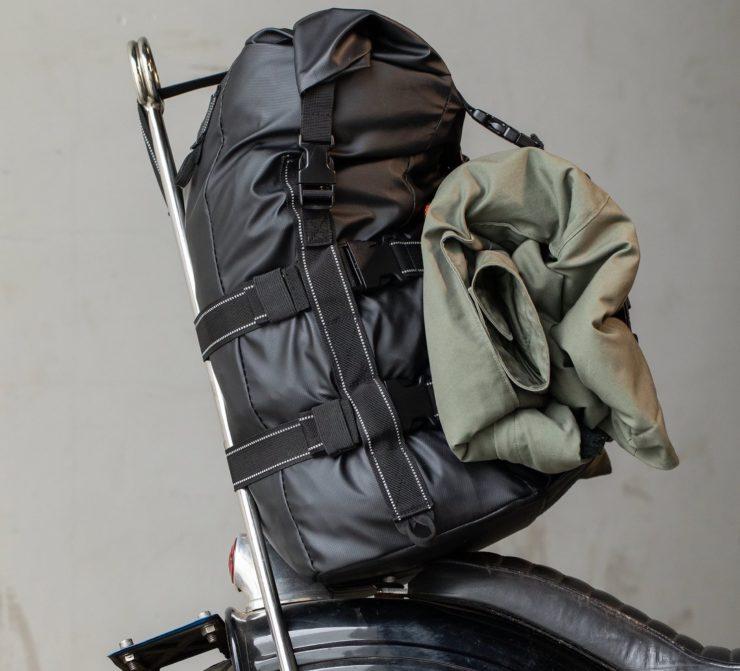 The Biltwell EXFIL-60 Bag - Motorcycle Utility Bag Sissy Bar