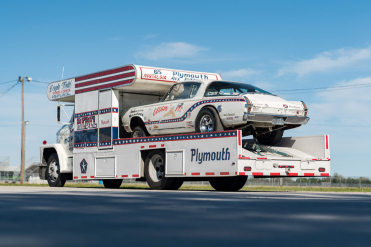 1966 Plymouth Barracuda Drag Car with 1965 Dodge C-500 Hauler 1