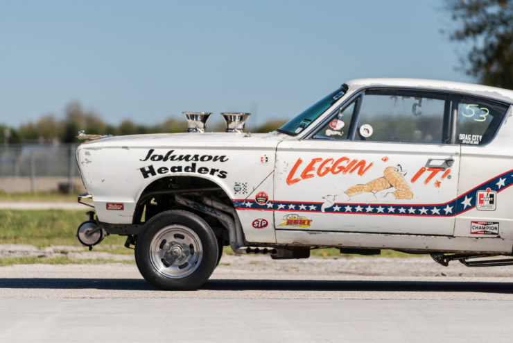 1966 Plymouth Barracuda Drag Car with 1965 Dodge C-500 Hauler 12