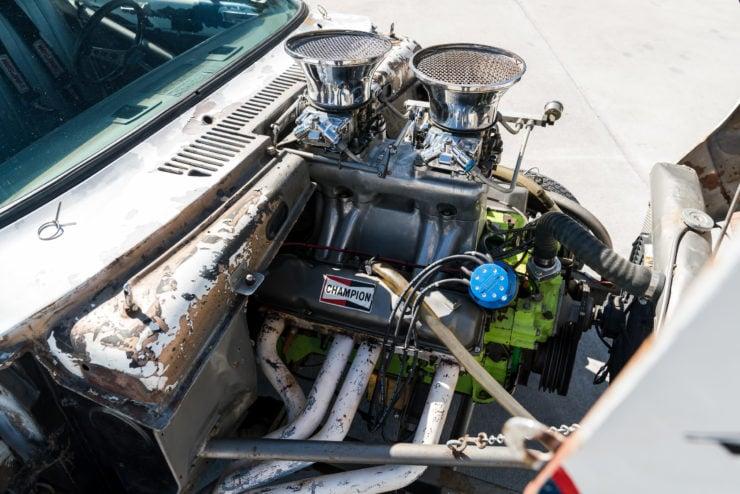 1966 Plymouth Barracuda Drag Car with 1965 Dodge C-500 Hauler 17