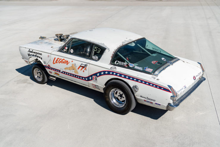 1966 Plymouth Barracuda Drag Car with 1965 Dodge C-500 Hauler 18
