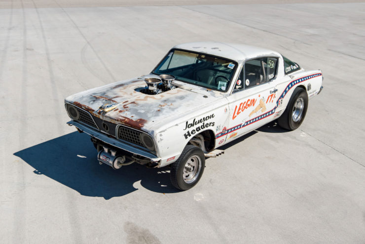 1966 Plymouth Barracuda Drag Car with 1965 Dodge C-500 Hauler 19
