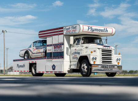 1966 Plymouth Barracuda Drag Car with 1965 Dodge C-500 Hauler