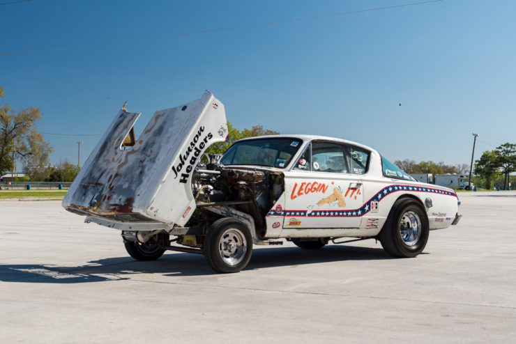 1966 Plymouth Barracuda Drag Car with 1965 Dodge C-500 Hauler 9